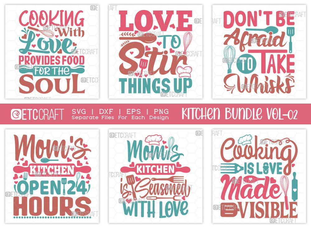Kitchen SVG Bundle Vol-02 | Mom's Kitchen SVG