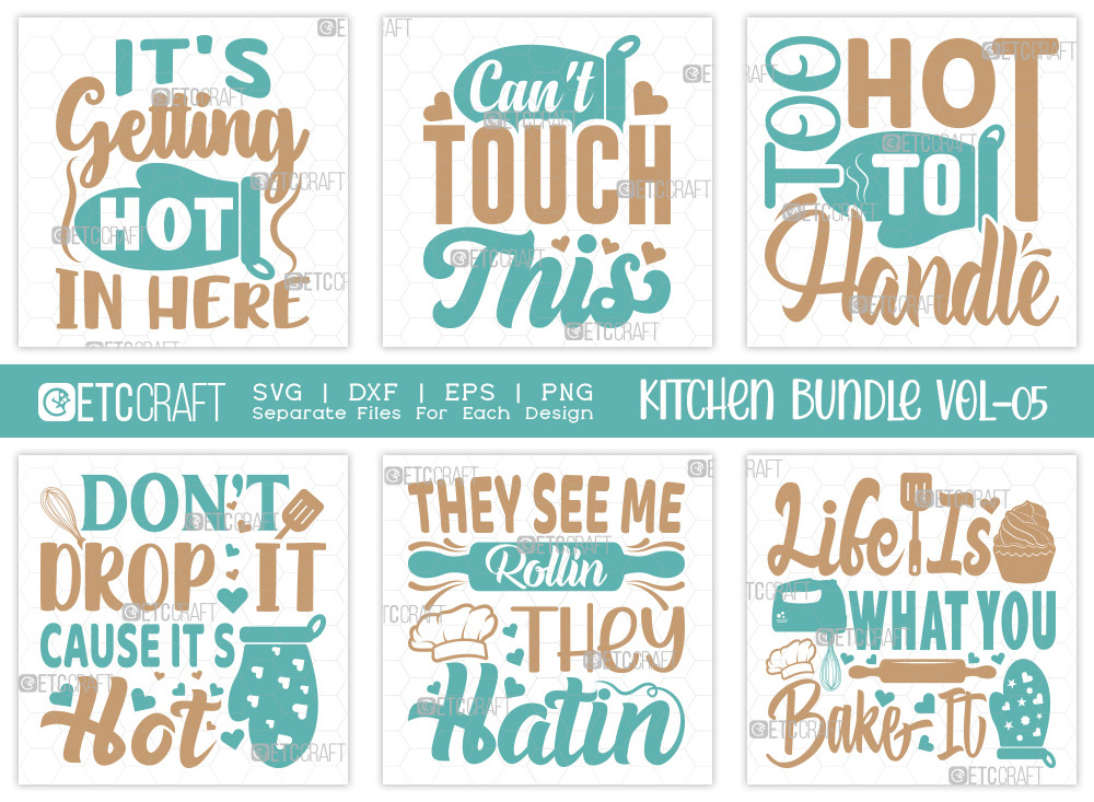 Kitchen SVG Bundle Vol-05   Can't Touch This