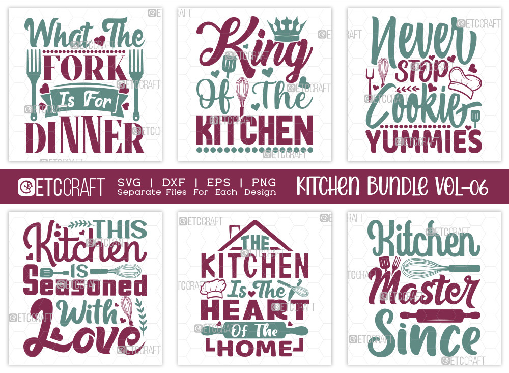 Kitchen SVG Bundle Vol-06 | Fork Is For Dinner
