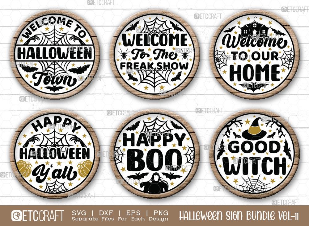 Halloween Sign Bundle Vol-11   Good Witch Svg