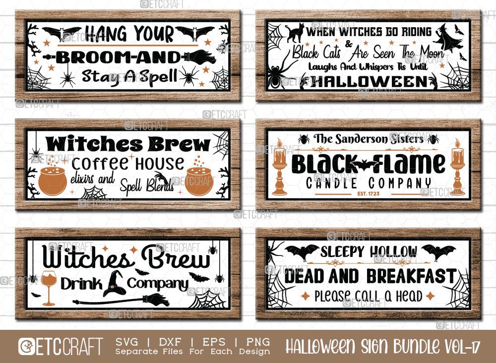 Halloween Sign Bundle Vol-17 | Halloween SVG