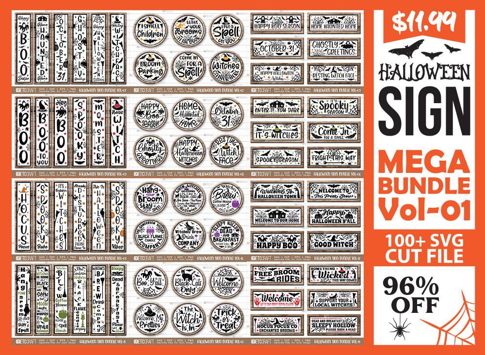 Halloween Sign Mega Bundle Vol-01