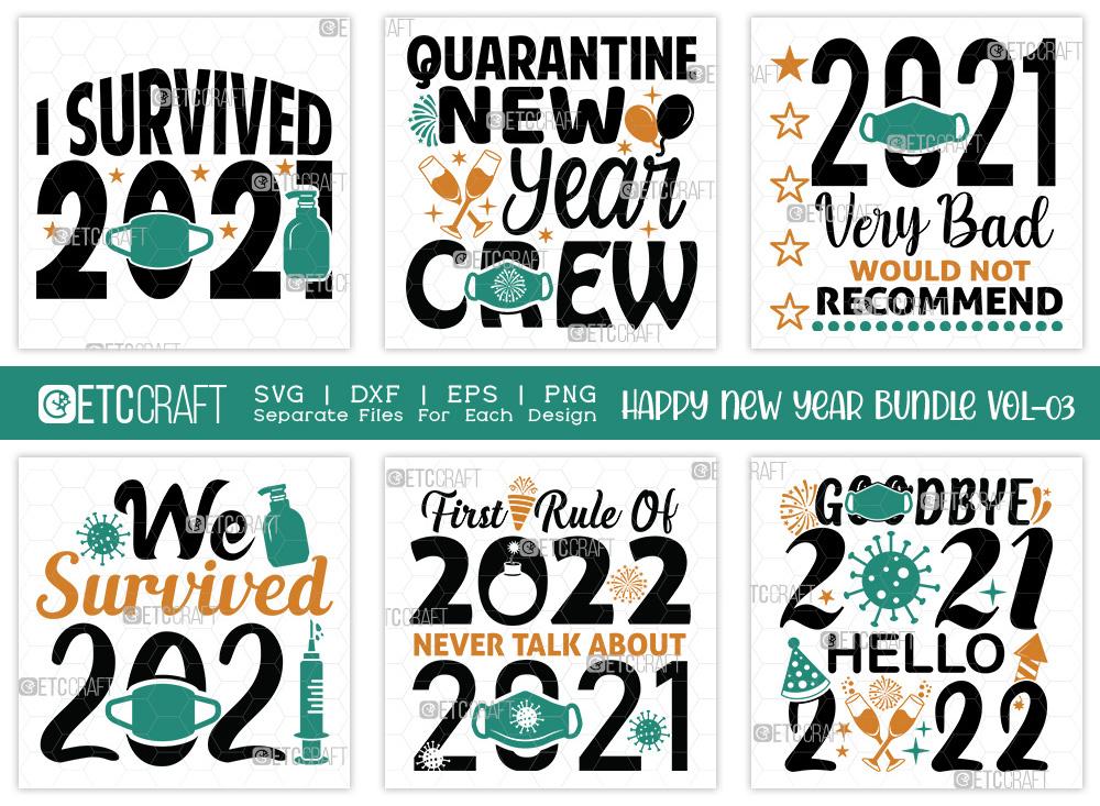 Happy New Year Bundle Vol-03 | New Year SVG