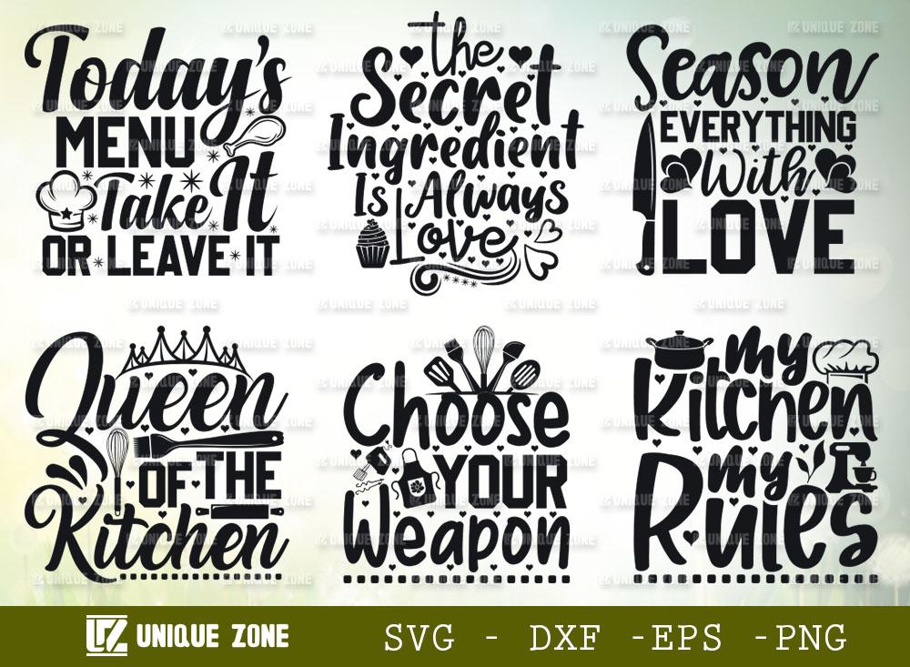 Kitchen Quotes SVG Bundle 05   Kitchen SVG