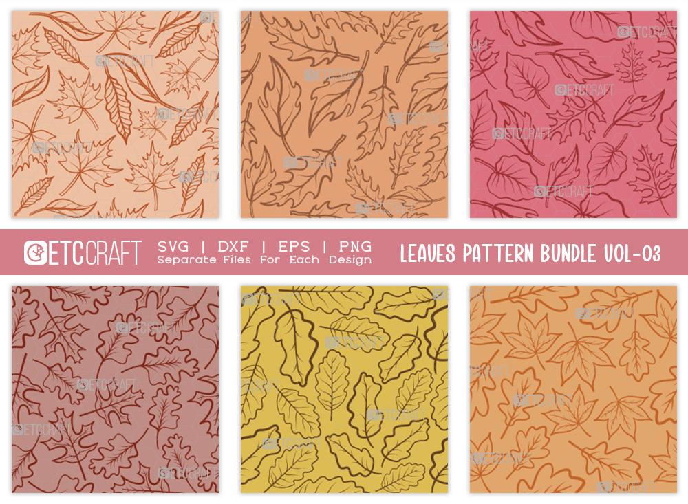 Leaves Pattern Bundle Vol-03 | Leaf Pattern SVG