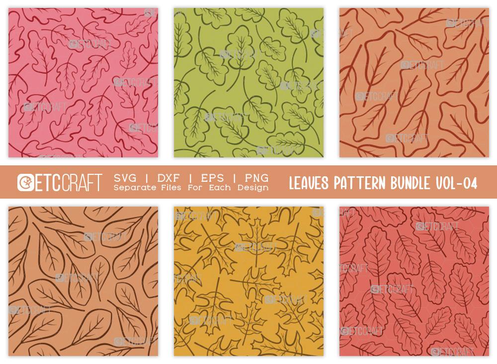 Leaves Pattern Bundle Vol-04 | Leaf Pattern SVG