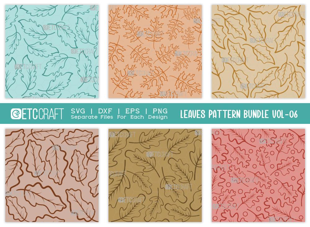 Leaves Pattern Bundle Vol-06 | Leaf Pattern SVG