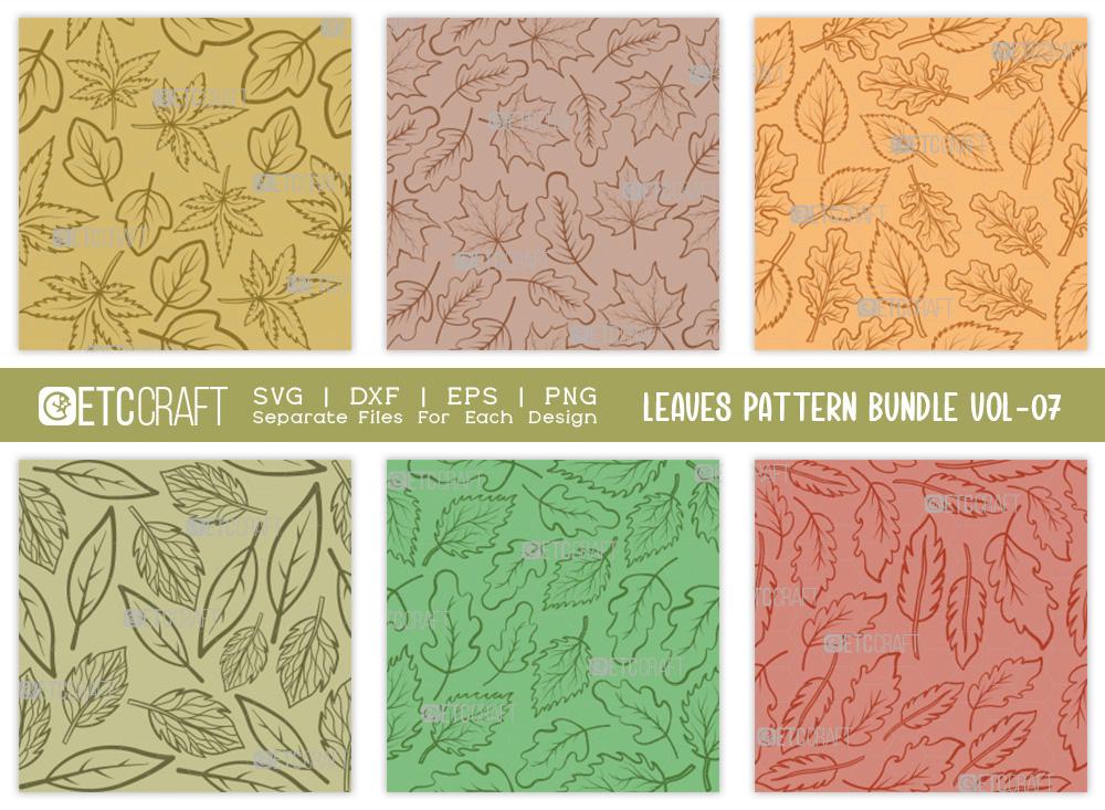 Leaves Pattern Bundle Vol-07 | Leaf Pattern SVG