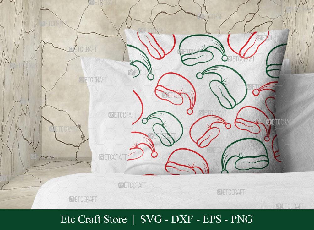 Santa Hat Pattern SVG Cut File | Christmas SVG