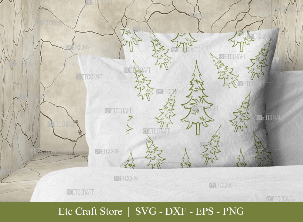 Pine Tree Pattern SVG Cut File | Christmas SVG