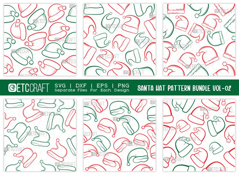 Santa Hat Pattern Bundle Vol-02 SVG Cut File