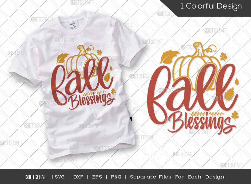 Fall Blessings SVG Cut File | Hello Fall SVG