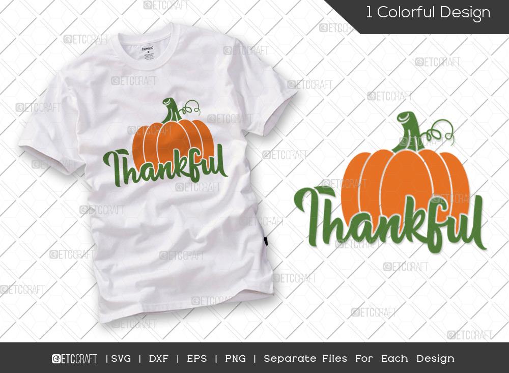 Thankful SVG Cut File | Pumpkin SVG