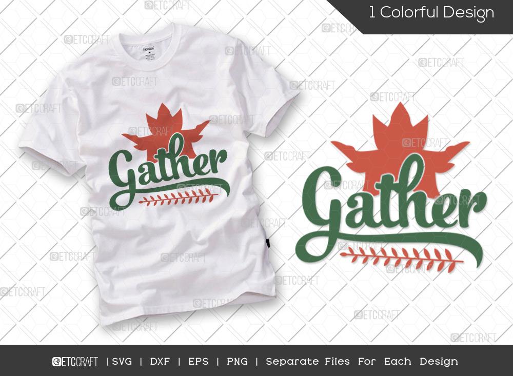 Gather SVG Cut File | Thanksgiving SVG
