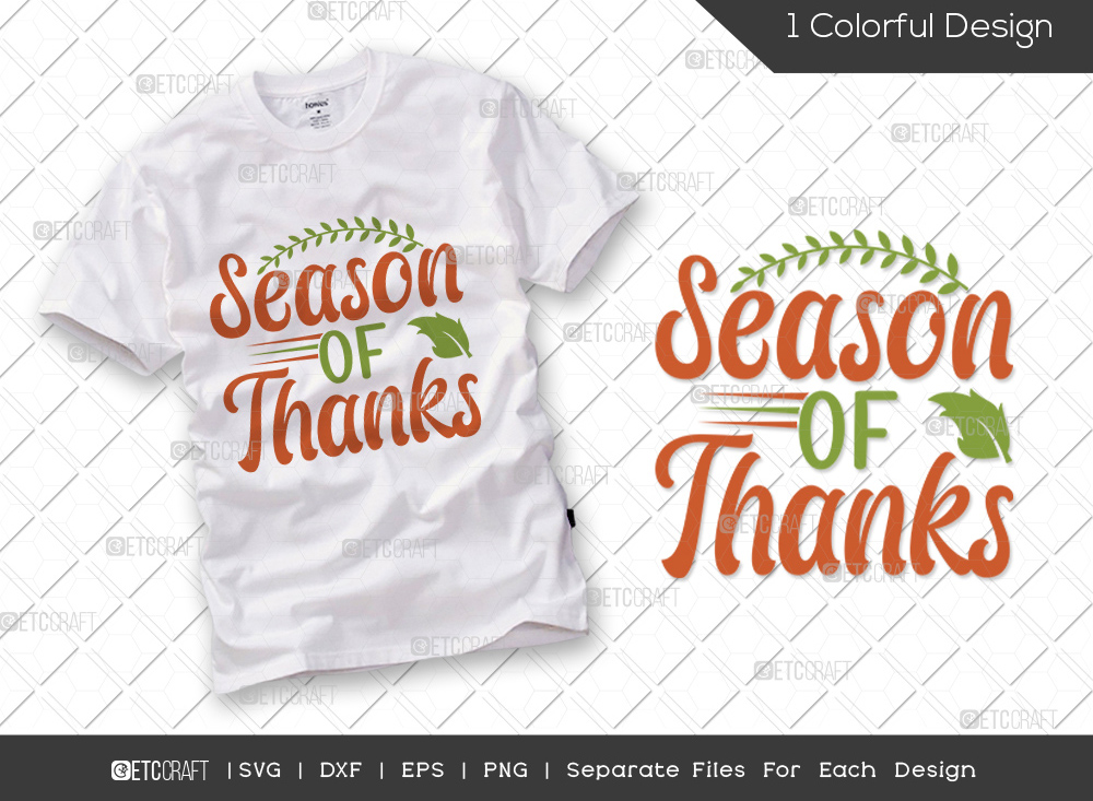 Season Of Thanks SVG | Autumn Leaves SVG