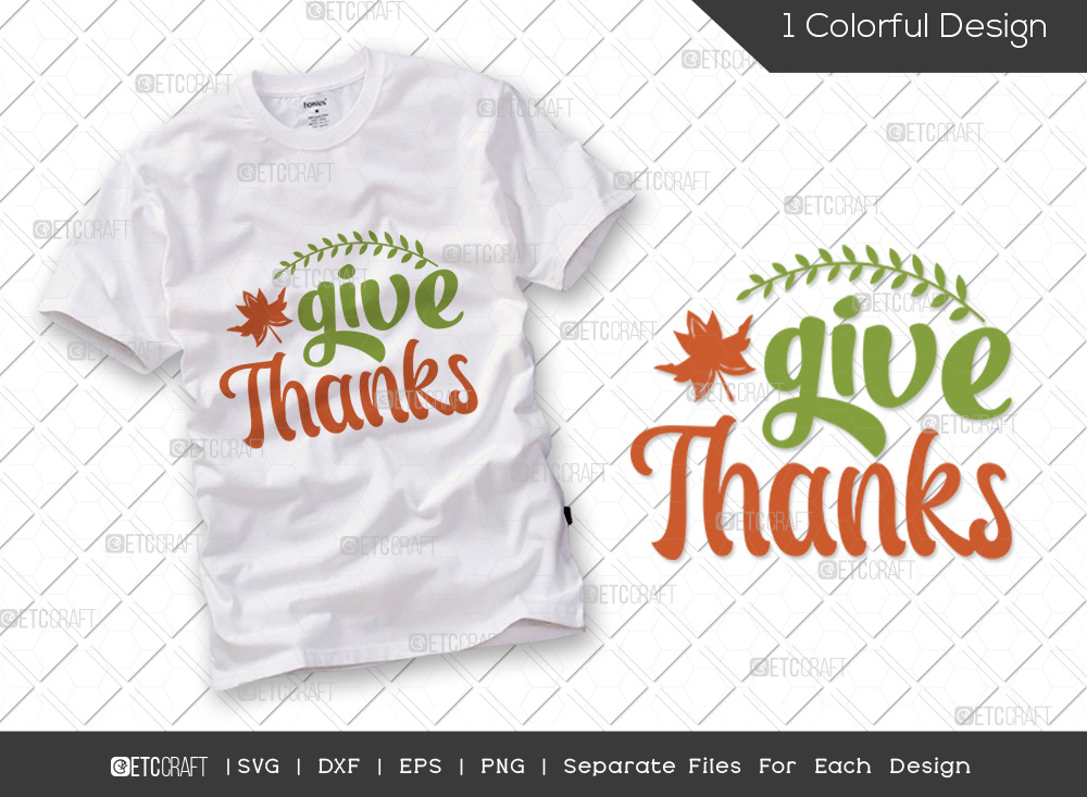 Give Thanks SVG Cut File | Autumn Leaves SVG