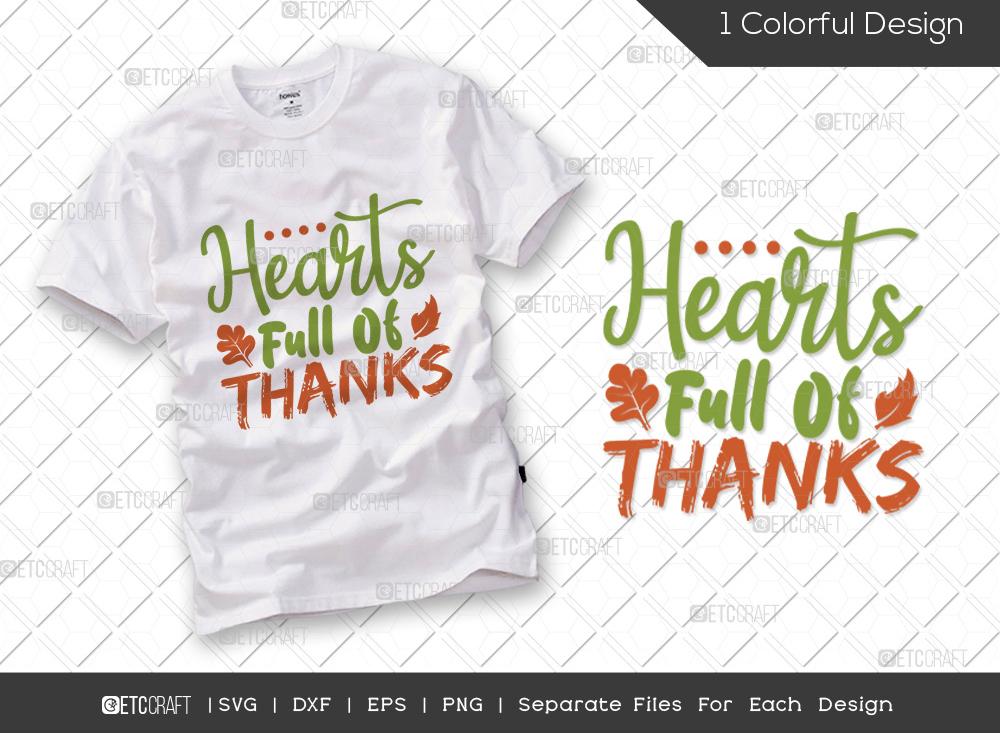 Hearts Full Of Thanks SVG   Thankful SVG