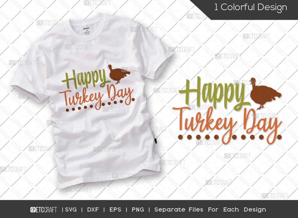 Happy Turkey Day SVG   Thanksgiving SVG