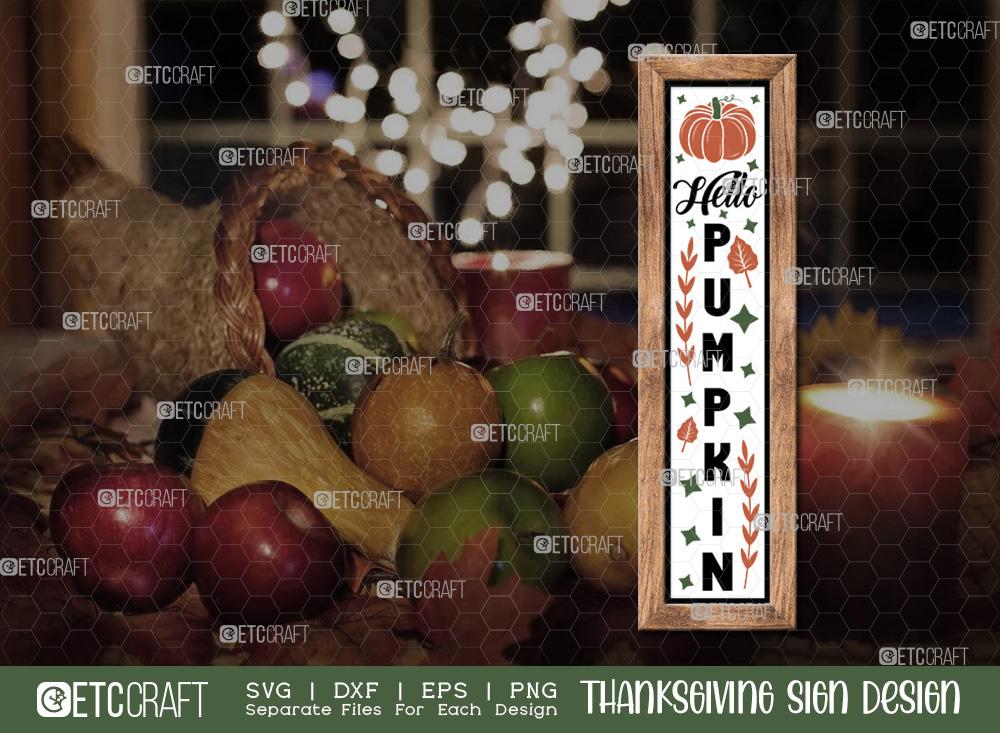 Hello Pumpkin SVG | Thanksgiving Sign SVG