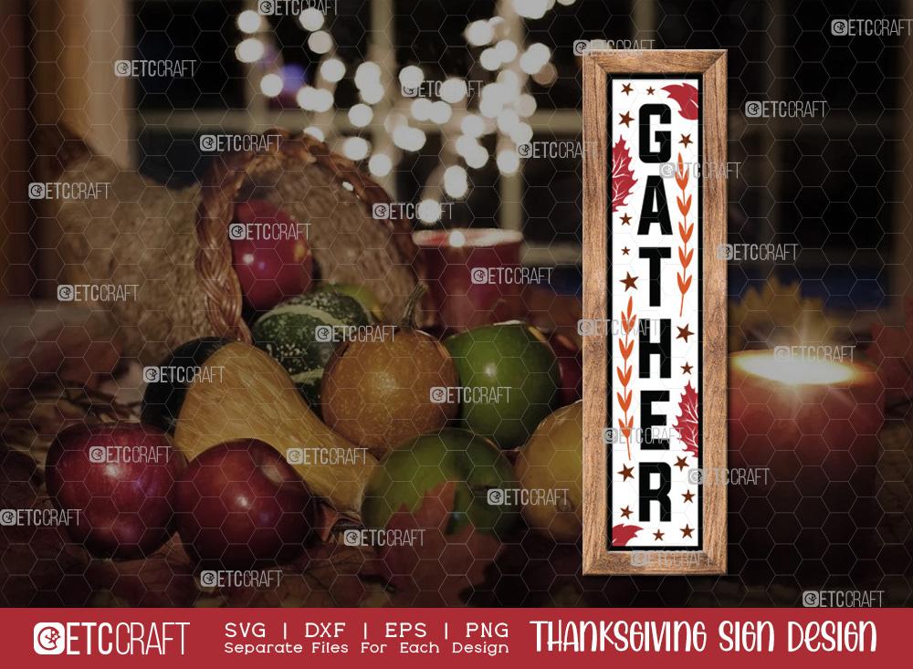 Gather SVG Cut File | Thanksgiving Sign SVG