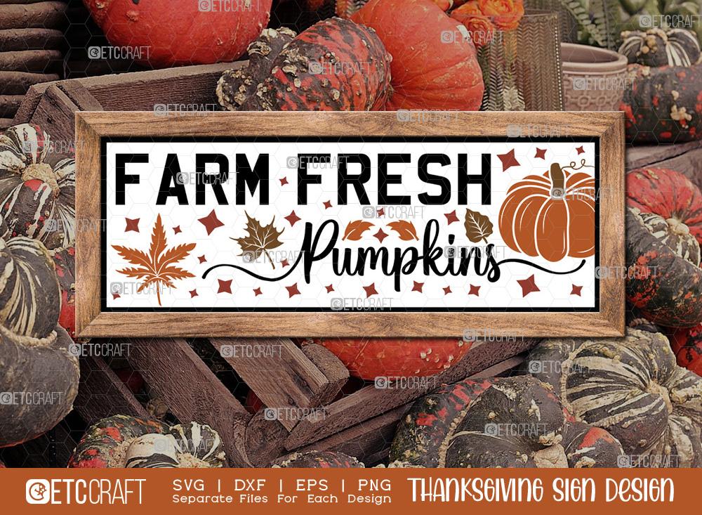 Farm Fresh Pumpkins SVG Cut File