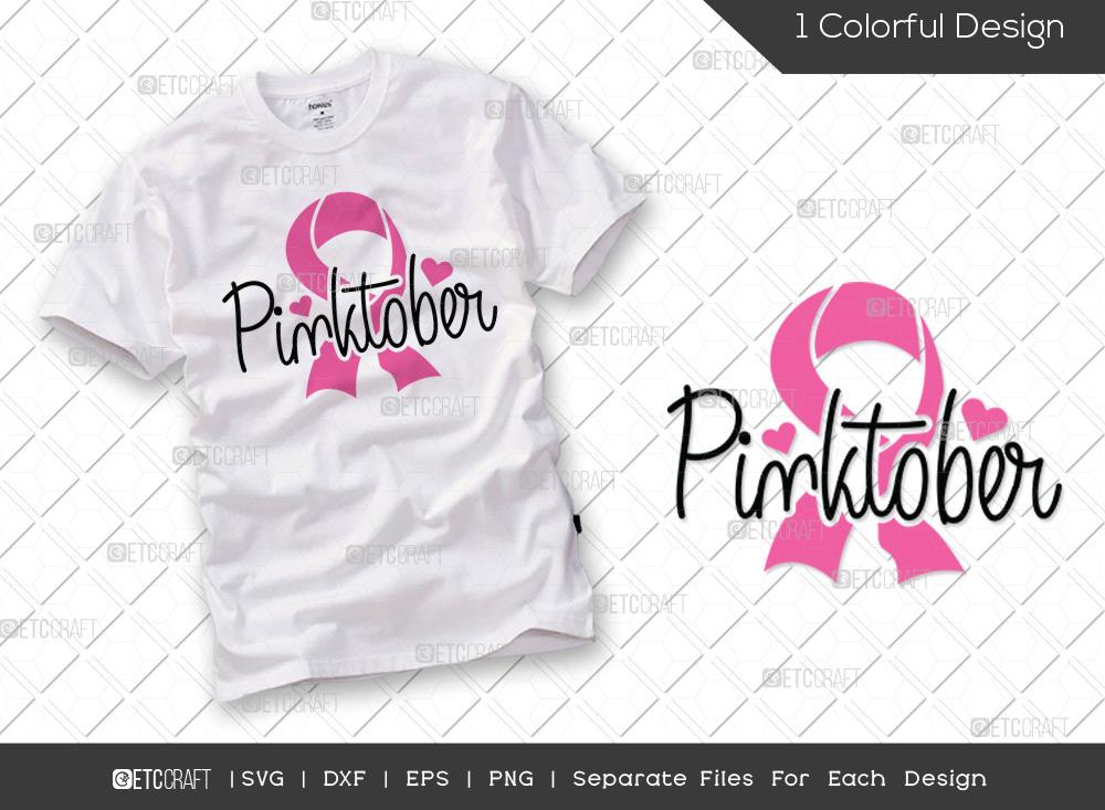 Pinktober SVG Cut File | Breast Cancer SVG