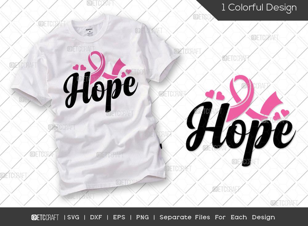 Hope SVG Cut File | Breast Cancer SVG