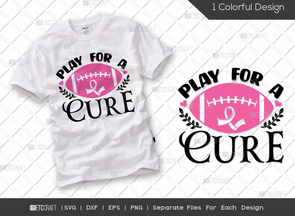 Play For The Cure SVG | Breast Cancer SVG
