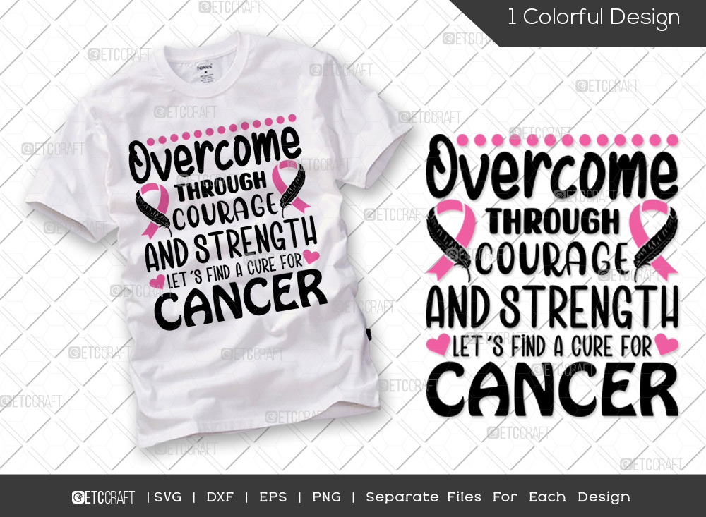 Overcome Through Courage And Strength SVG