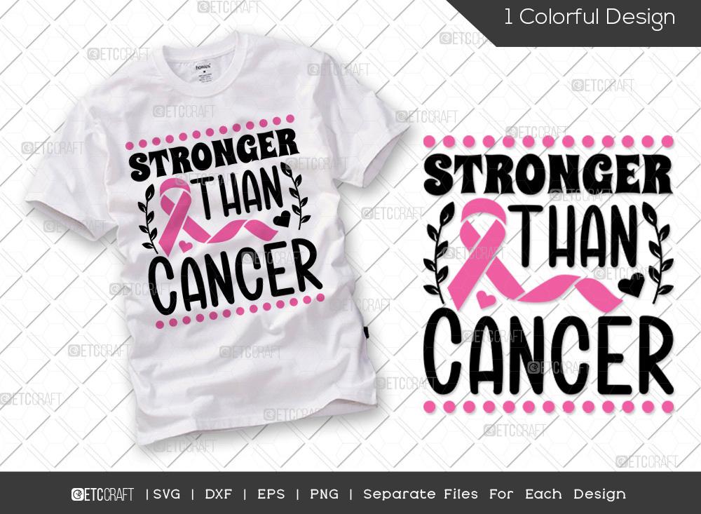 Stronger Than Cancer SVG | Breast Cancer SVG