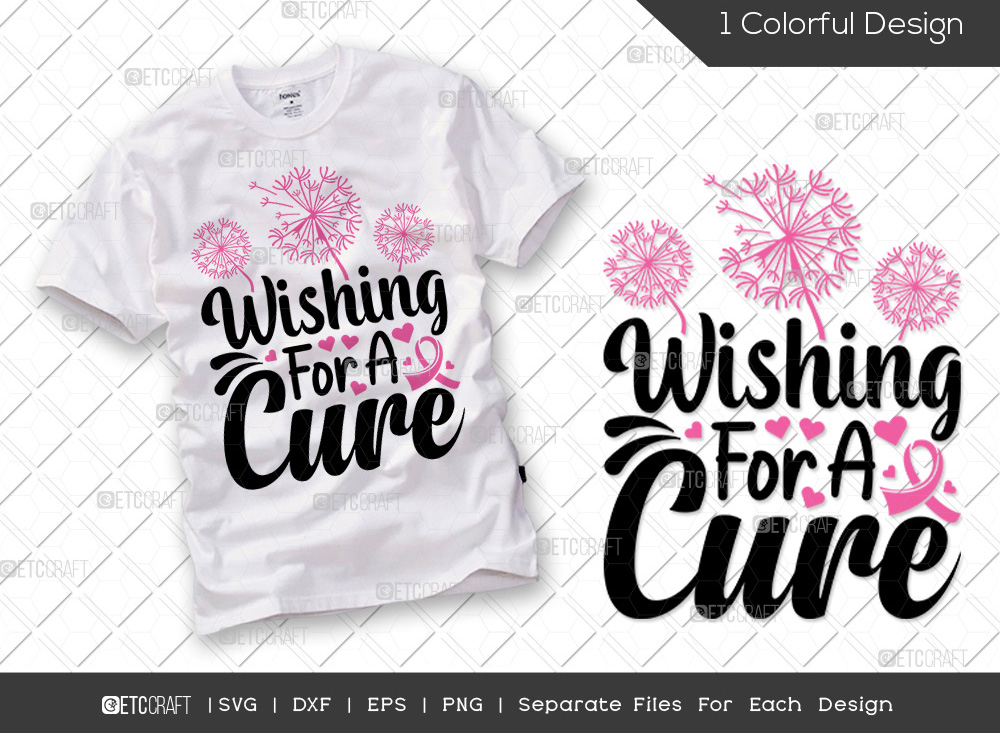 Wishing For A Cure SVG | Breast Cancer SVG