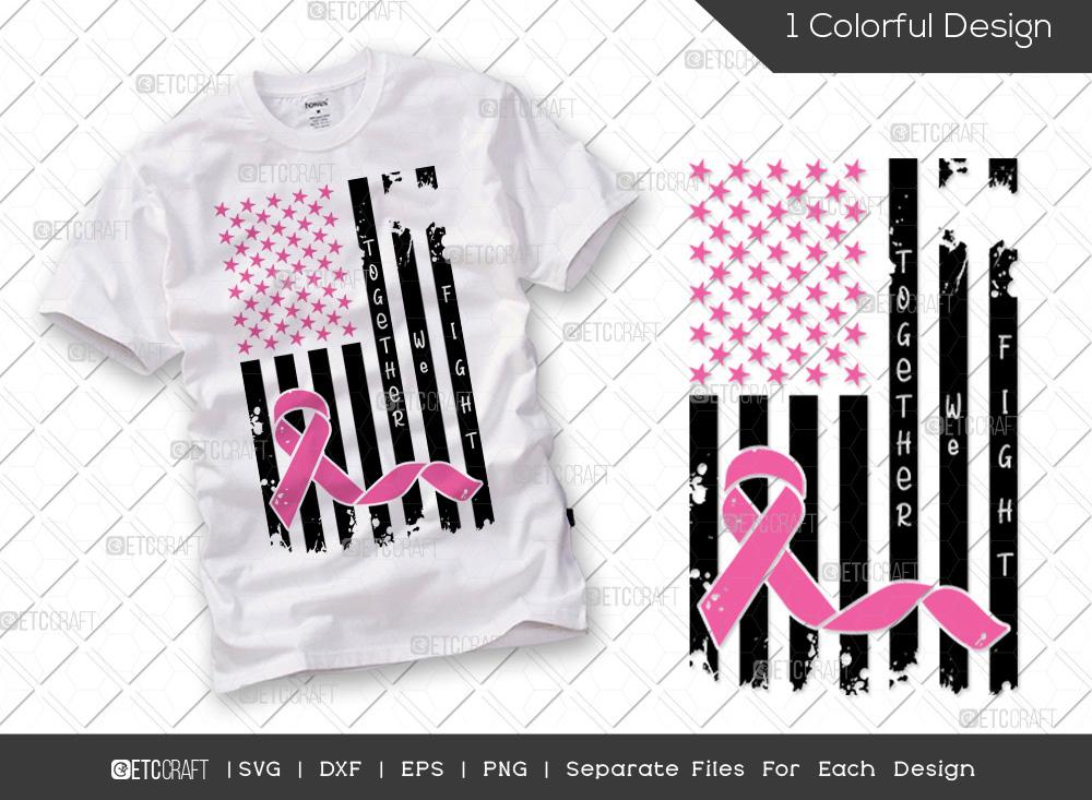 Together We Fight SVG | Breast Cancer SVG