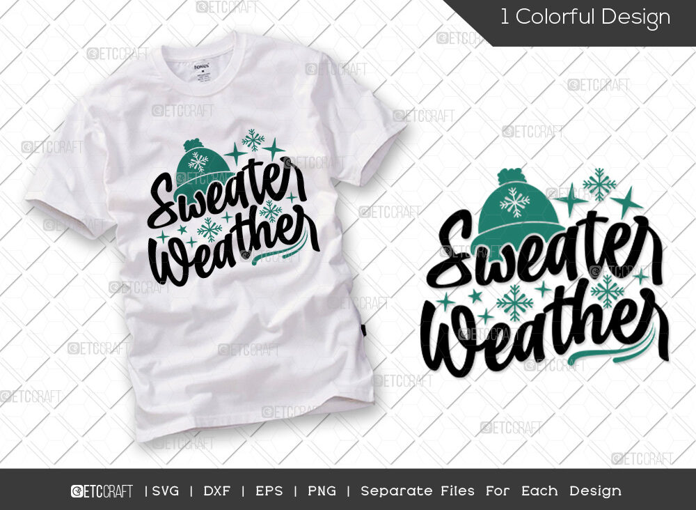 Sweater Weather SVG Cut File   Snowflakes SVG