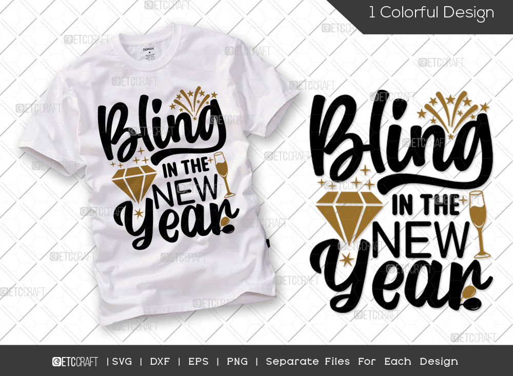 Bling In The New Year SVG Cut File | 2022 SVG