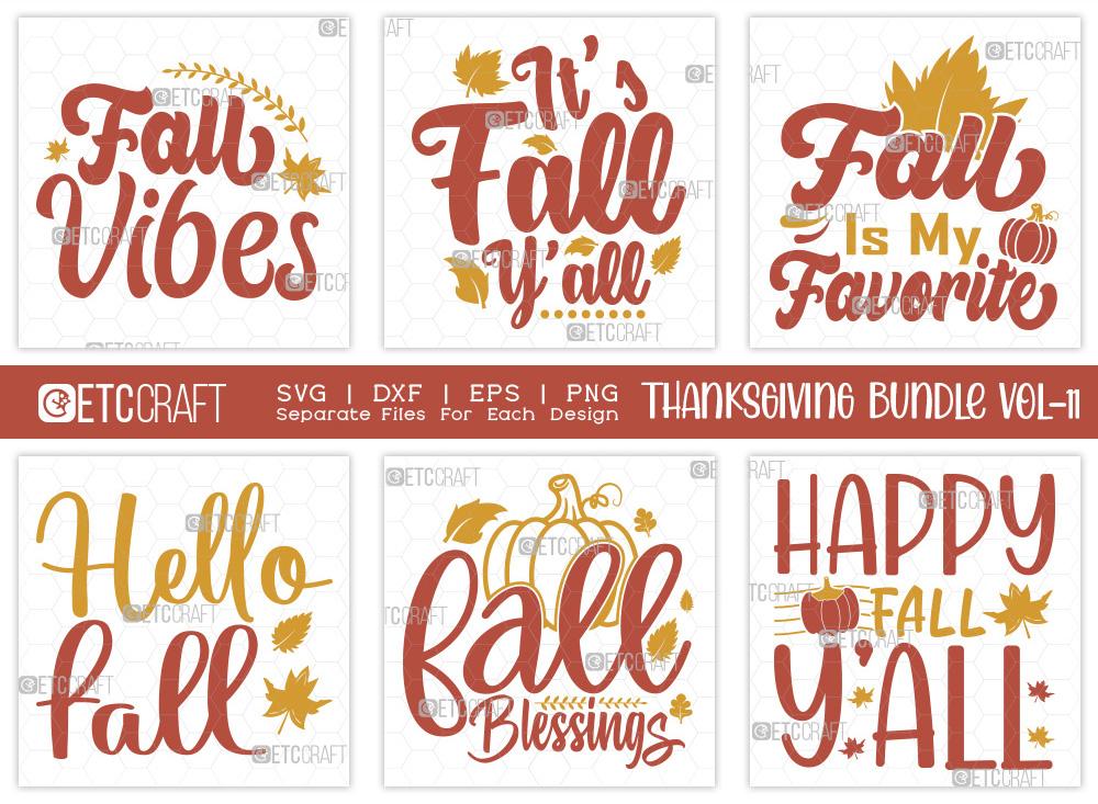 Thanksgiving Bundle Vol-11 | Fall Vibes SVG
