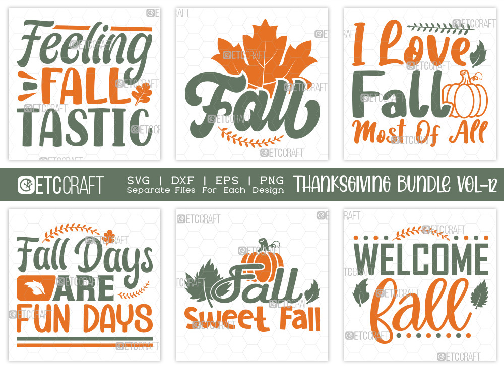 Thanksgiving Bundle Vol-12 | Fall SVG