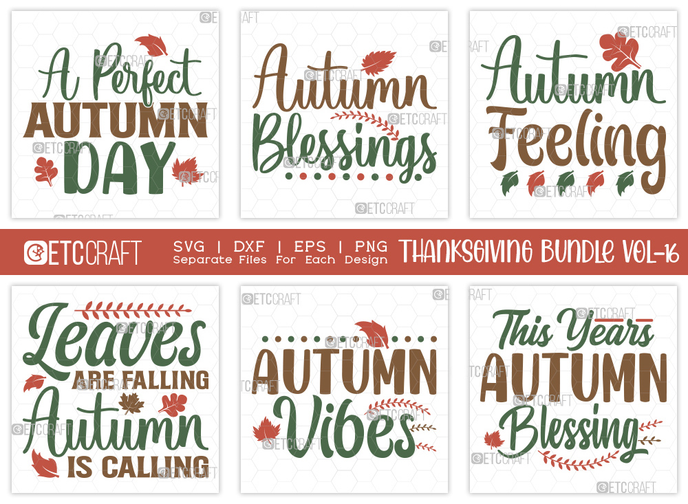 Thanksgiving Bundle Vol-16 | Autumn SVG