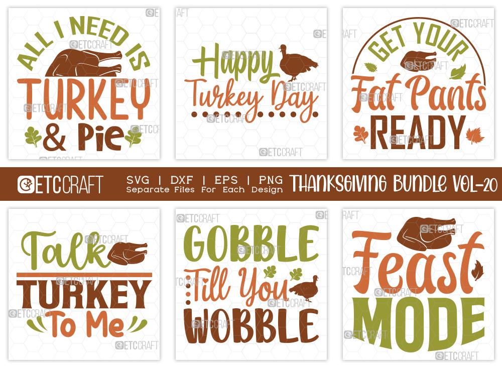 Thanksgiving Bundle Vol-20 | Turkey Day SVG
