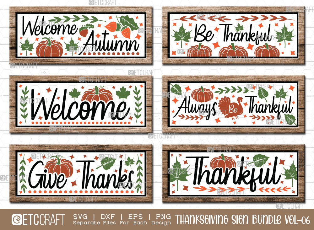 Thanksgiving Sign Bundle Vol-06