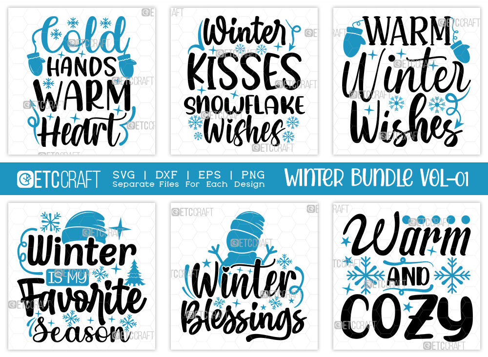 Winter Bundle Vol-01   Warm Winter Wishes Svg