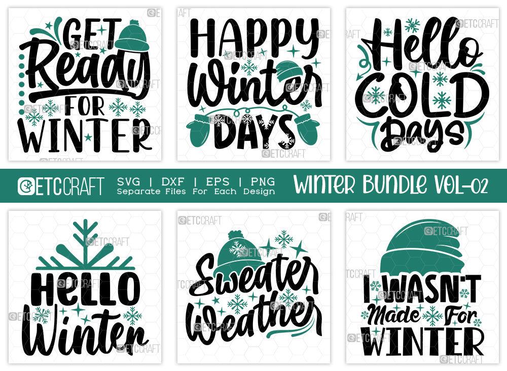 Winter Bundle Vol-02   Hello Winter SVG